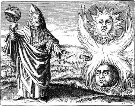 Hermes Trismegistus – traditionally credited as the author of the Hermetica and legendary founder of Western alchemy. (Maier, 1617)