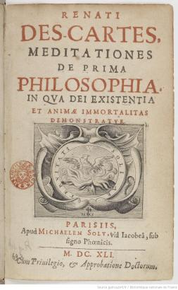 Title page of the Meditations