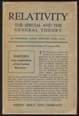 The original 1920 English publication of Einstien's paper on relativity