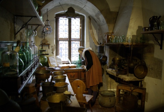 A replica of Libavius' laboratory