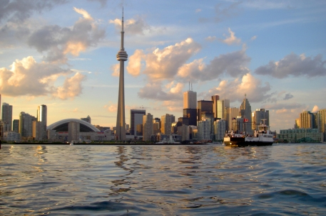 Toronto skyline viewed from harbor