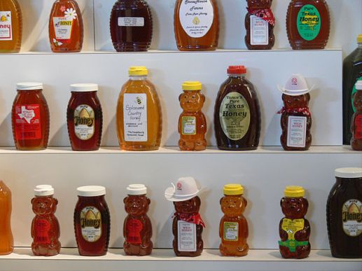 A variety of types of honey